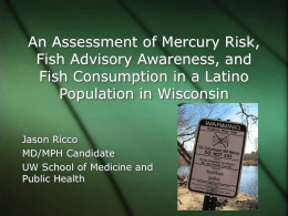 An Assessment of Mercury Risk, Fish Advisory Awareness
