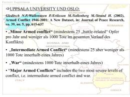 Kriege und kriegerische Konflikte in Ex