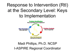 Response to Intervention (RtI) in Middle and High School
