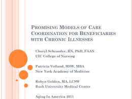 Promising Models of Care Coordination for Beneficiaries