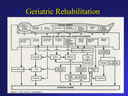 Geriatric Rehabilitation - University of Nebraska Medical