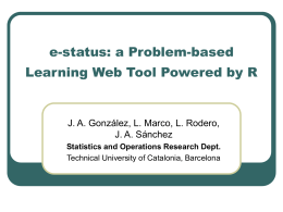 e-status: a Problem-based Learning Web Tool Powered by R