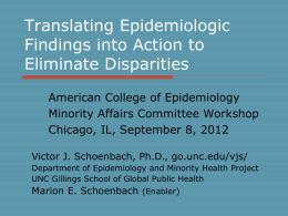 Barriers to translation of epidemiologic findings into action