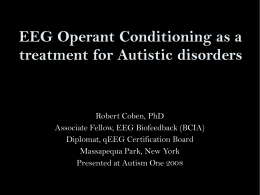 EEG Spectrum Science Council: Neurofeedback for Autistic