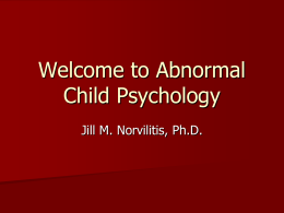 Welcome to Abnormal Child Psychology
