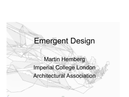 Emergent Design - MIT - Massachusetts Institute of …