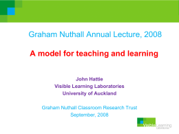 qwerre - Graham Nuthall Classroom Research Trust