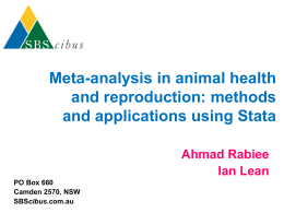 Meta-analysis in Veterinary Science