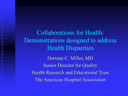Collaborations for Health: Demonstrations designed to
