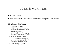UC Davis MURI Team - University of California, Davis