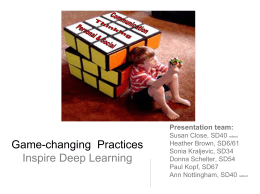 Game-Changing Practices Inspire Learning