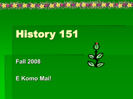 History 152 - University of Hawaii