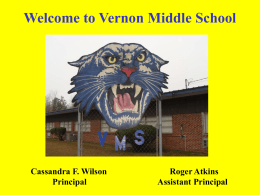 Vernon Middle School Open House/Orientation