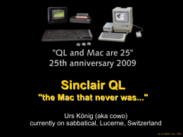 Sinclair QL & Apple Mac 25th anniversary