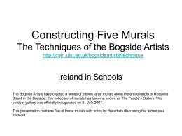 The Bogside Artists Murals : Techniques http://cain.ulst