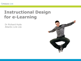 Instructional Design for e