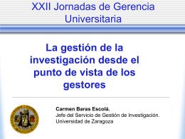 XXII Jornadas de Gerencia Universitaria
