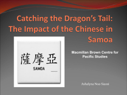 Catching the Dragons Tail: The Impact of the Chinese in …