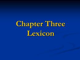 Lexicon - Yibin U