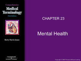 CHAPTER 23 MENTAL HEALTH
