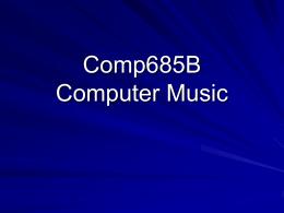 Computer Music - Hong Kong University of Science and