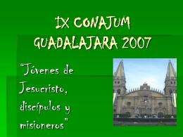 IX CONAJUM GUADALAJARA 2007