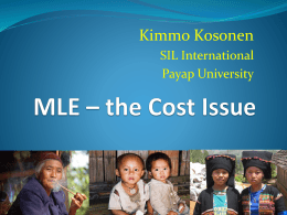 MLE – the Cost Issue