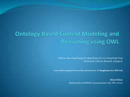 Ontology Based Context Modeling and Reasoning using …