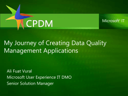 My Journey of Creating Data Quality Management …