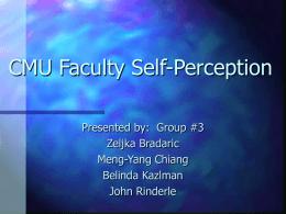 CMU Faculty Self