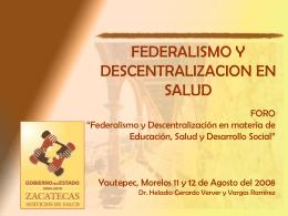 Diapositiva 1 - Foro Nacional sobre Federalismo y