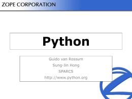 Python - SPARCS - SPARCS에 오신 것을 환영합니다!