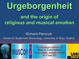 Prenatal origins of music, religion, consciousness