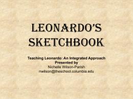 Leonardo's Sketchbook - Henrico County Public Schools