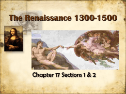 The Renaissance 1300-1500 - Libertyville High School