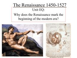 The Renaissance 1450-1527 - Farmington Public Schools