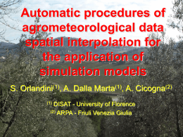 An integrated system for the agrometeorological …