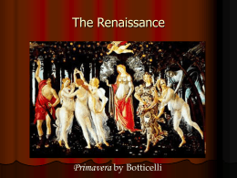 The Renaissance, Reformation, and Exploration