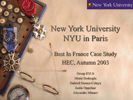 New York University In Paris