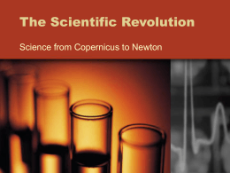 The Scientific Revolution - Mount Saint Joseph High School