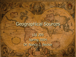 Geographical Sources