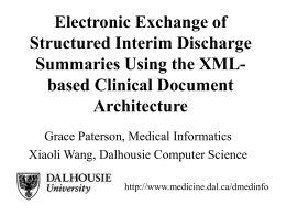 Electronic Exchange of Structured Interim Discharge