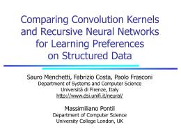 Comparing Convolution Kernels and Recursive Neural …