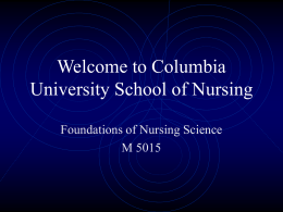 Welcome to Columbia University School of Nursing