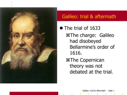 Galileo: trial & aftermath