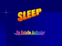 SLEEP - patrickautissier.org