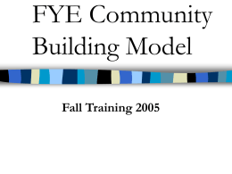 FYE Area Programming - Saint Louis University
