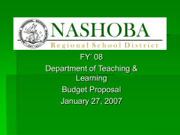 Nashoba Regional School District