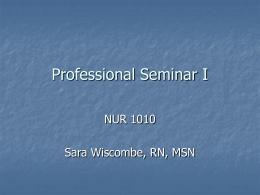 Professional Seminar I
