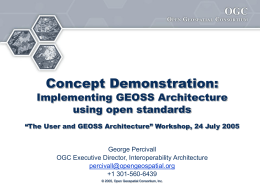 Concept Demonstration: Implementing GEOSS …